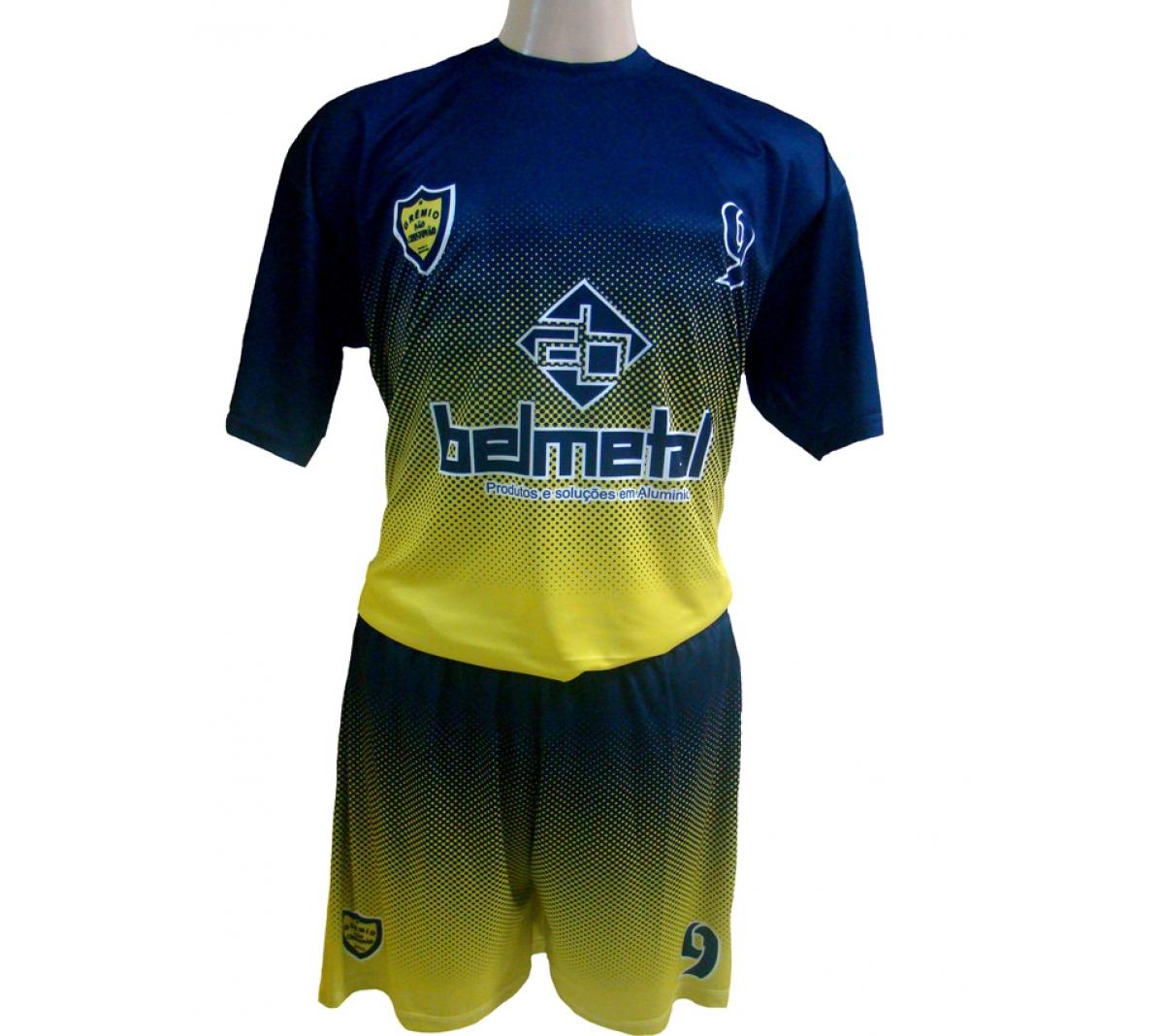 Camisa Modelo Barcelona Com Azul Amarelo Spenassatto Uniformes Qualidade Em Uniformes De Futebol